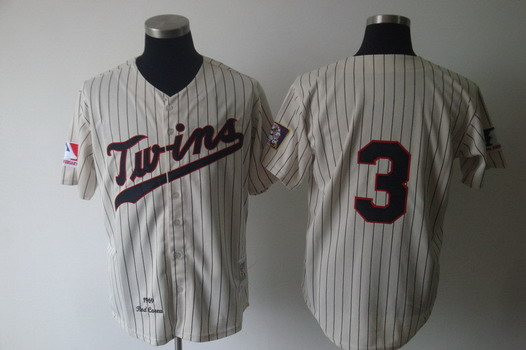 Minnesota Twins #3 Harmon Killebrew 1969 Cream Throwback Jersey