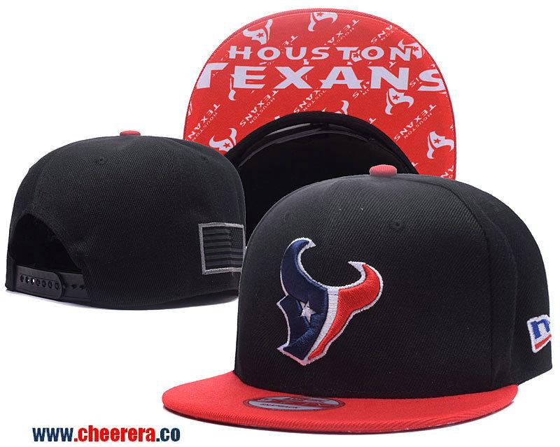NFL Houston Texans Adjustable SnapBack Hat in Black