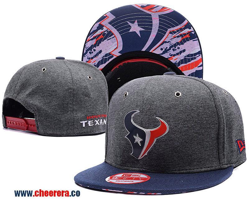 NFL Houston Texans Adjustable SnapBack Hat in Gary