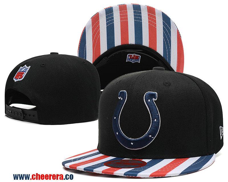 NFL Indianapolis Colts Adjustable Black SnapBack Hat