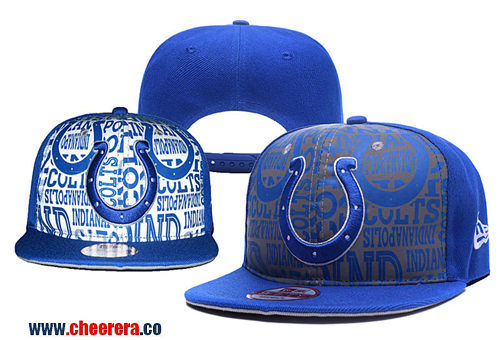 NFL Indianapolis Colts Adjustable Peaked Hat in Blue