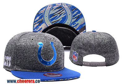 NFL Indianapolis Colts Adjustable Peaked Hat in Grey