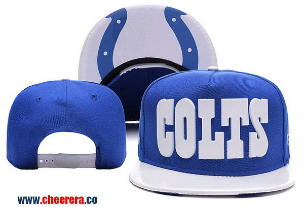 NFL Indianapolis Colts Adjustable SnapBack Hat in Blue