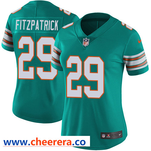 Nike Dolphins #29 Minkah Fitzpatrick Aqua Green Alternate Women's Stitched NFL Vapor Untouchable Limited Jersey