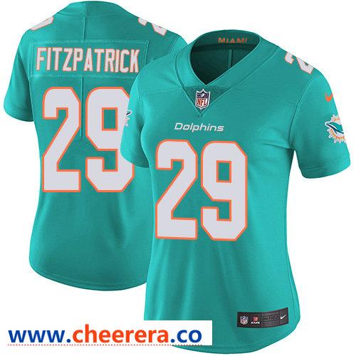 Nike Dolphins #29 Minkah Fitzpatrick Aqua Green Team Color Women's Stitched NFL Vapor Untouchable Limited Jersey