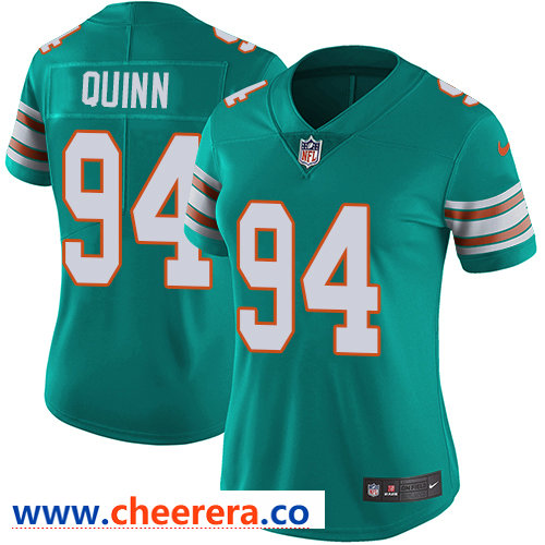 Nike Dolphins #94 Robert Quinn Aqua Green Alternate Women's Stitched NFL Vapor Untouchable Limited Jersey