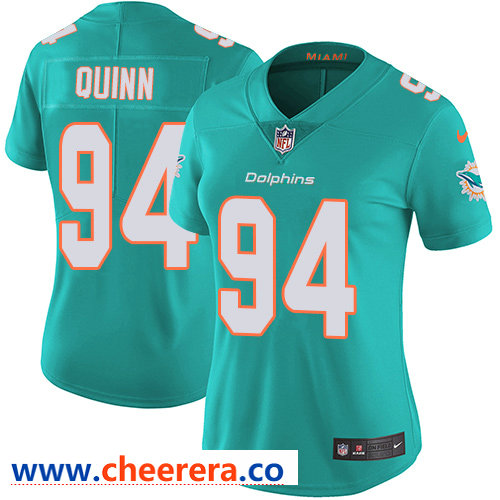 Nike Dolphins #94 Robert Quinn Aqua Green Team Color Women's Stitched NFL Vapor Untouchable Limited Jersey