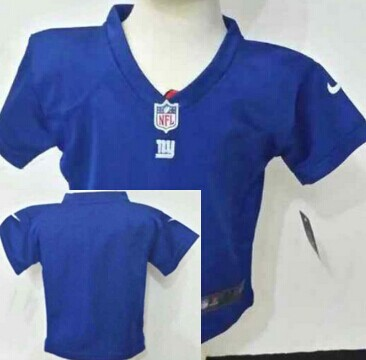 Custom Nike New York Giants Blue Toddlers Jersey