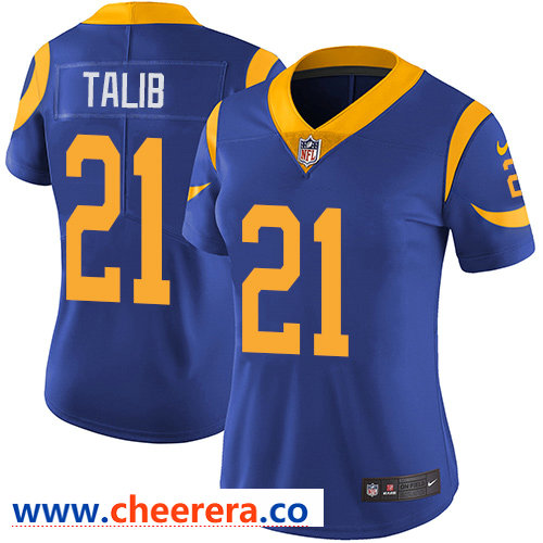Nike Rams #21 Aqib Talib Royal Blue Alternate Women's Stitched NFL Vapor Untouchable Limited Jersey
