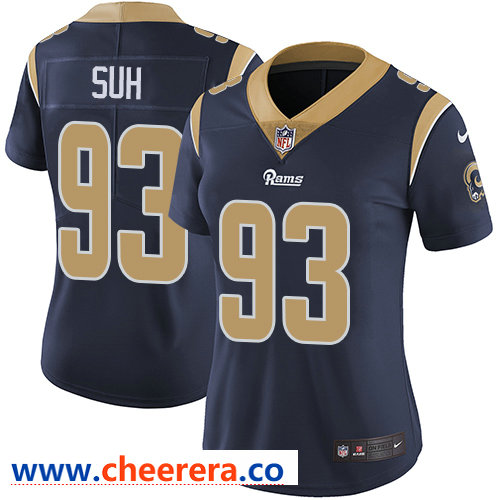 Nike Rams #93 Ndamukong Suh Navy Blue Team Color Women's Stitched NFL Vapor Untouchable Limited Jersey