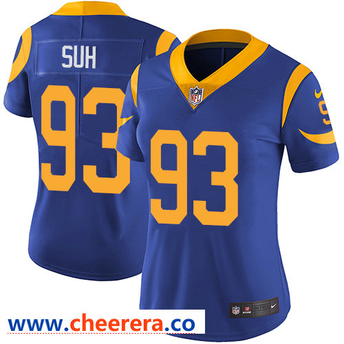 Nike Rams #93 Ndamukong Suh Royal Blue Alternate Women's Stitched NFL Vapor Untouchable Limited Jersey