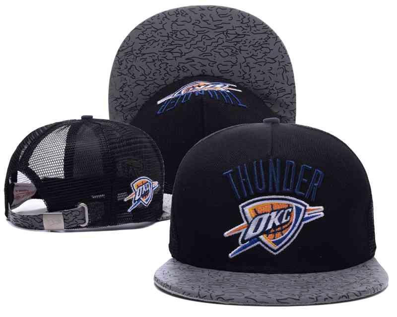 Oklahoma City Thunder Mesh Snapback Hat Black-TX17