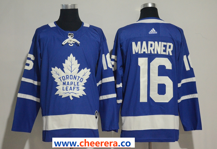 Men's Adidas Toronto Maple Leafs #16 Mitchell Marner Blue Home Stitched NHL Jersey