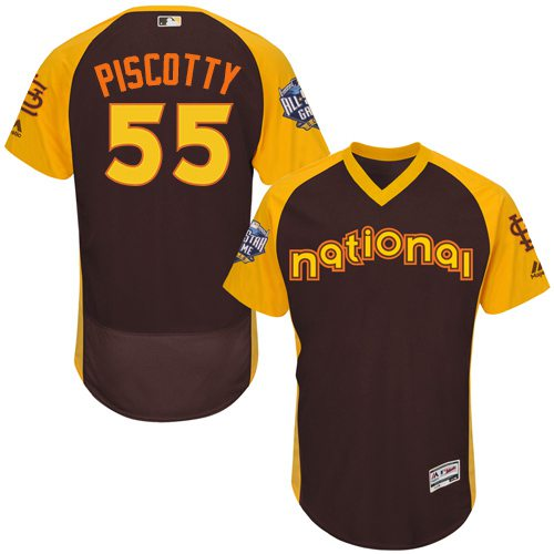 Stephen Piscotty Brown 2016 All-Star Jersey - Men's National League St. Louis Cardinals #55 Flex Base Majestic MLB Collection Jersey