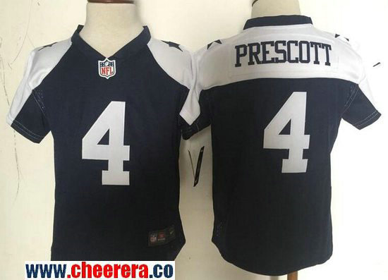 Toddler Dallas Cowboys #4 Dak Prescott Navy Blue Thanksgiving Stitched NFL Nike Game Jersey