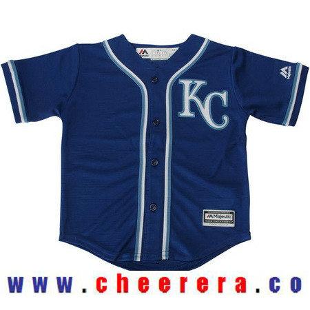 Toddler Kansas City Royals Navy Blue Alternate Majestic Cool Base Custom Baseball Jersey