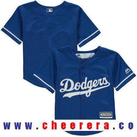 Toddler Los Angeles Dodgers Royal Blue Alternate Majestic Cool Base Custom Baseball Jersey