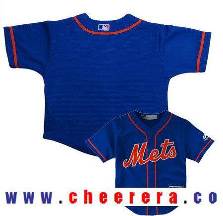 Toddler New York Mets Royal Blue with Orange Alternate Majestic Cool Base Custom Baseball Jersey