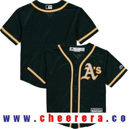 Toddler Oakland Athletics Athletic Green Alternate Majestic Cool Base Custom Baseball Jersey