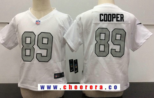 Toddler Oakland Raiders #89 Amari Cooper White 2016 Color Rush Stitched NFL Nike Jersey
