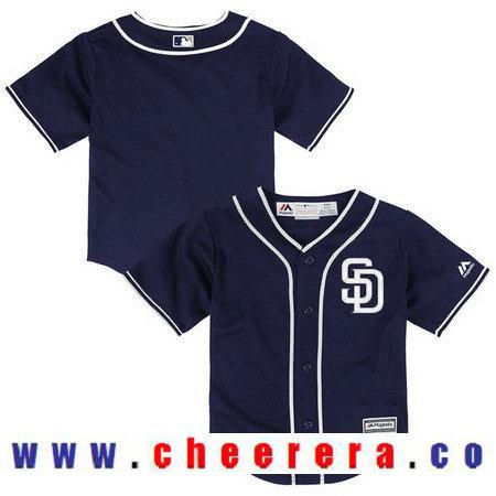 Toddler San Diego Padres Navy Blue Alternate Majestic Cool Base Custom Baseball Jersey