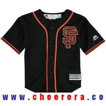 Toddler San Francisco Giants Black Alternate Majestic 2016 Cool Base Custom Baseball Jersey