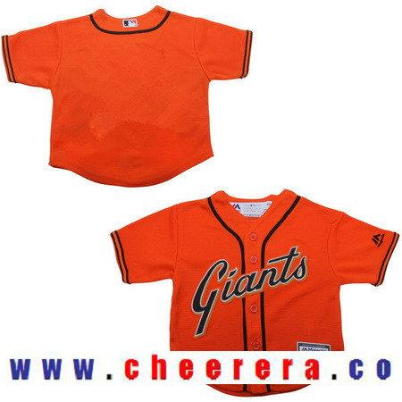 Toddler San Francisco Giants Orange Alternate Majestic Cool Base Custom Baseball Jersey