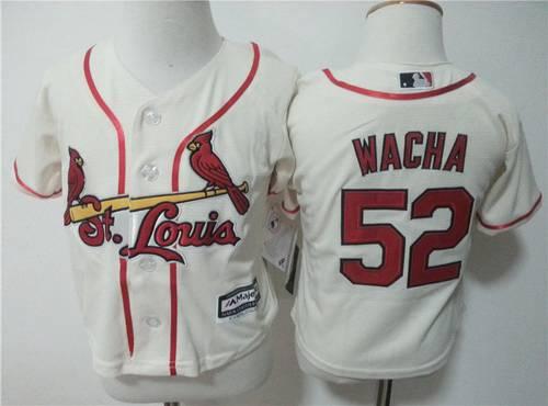 Toddler St. Louis Cardinals #52 Michael Wacha Cream MLB Majestic Baseball Jersey