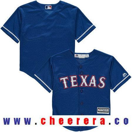 Toddler Texas Rangers Royal Blue Alternate Majestic Cool Base Custom Baseball Jersey