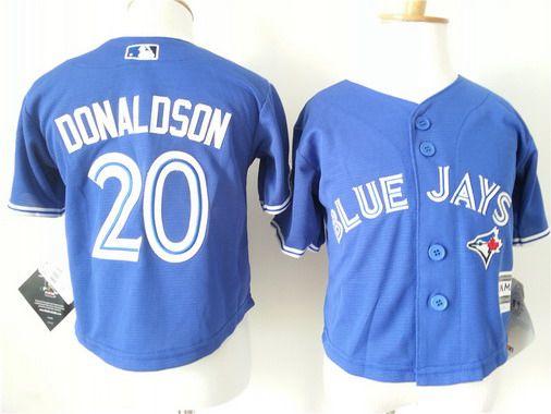 Toddler Toronto Blue Jays #20 Josh Donaldson Alternate Blue 2015 MLB Cool Base Jersey