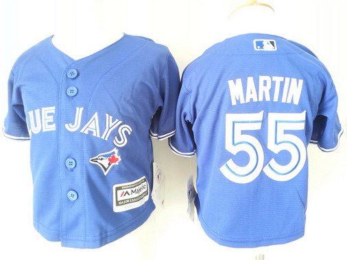 Toddler Toronto Blue Jays #55 Russell Martin Alternate Blue 2015 MLB Cool Base Jersey