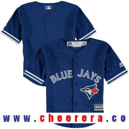 Toddler Toronto Blue Jays Royal Blue Alternate Majestic Cool Base Custom Baseball Jersey