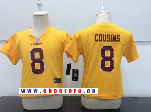 Toddler Washington Redskins #8 Kirk Cousins Gold 2016 Color Rush Stitched NFL Nike Game Jersey