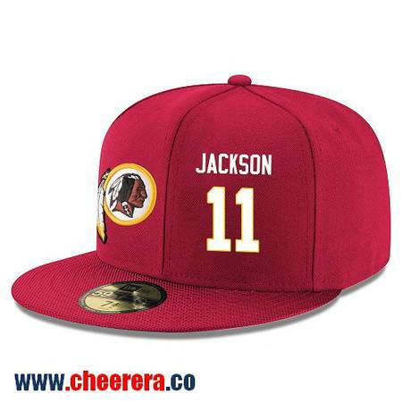 Washington Redskins #11 DeSean Jackson Snapback Cap NFL Player Red with White Number Hat