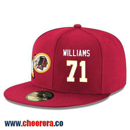 Washington Redskins #71 Trent Williams Snapback Cap NFL Player Red with White Number Hat