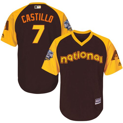 Welington Castillo Brown 2016 MLB All-Star Jersey - Men's National League Arizona Diamondbacks #7 Cool Base Game Collection