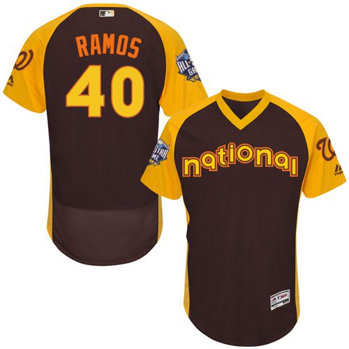 Wilson Ramos Brown 2016 All-Star Jersey - Men's National League Washington Nationals #40 Flex Base Majestic MLB Collection Jersey