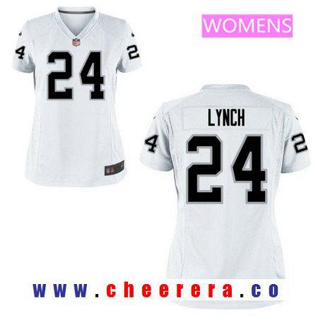 Women's Oakland Raiders Marshawn Lynch Nike White Game Jersey