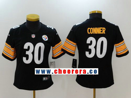 Women's Pittsburgh Steelers #30 James Conner Black 2017 Vapor Untouchable Stitched NFL Nike Limited Jersey