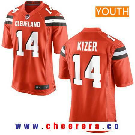 Youth 2017 NFL Draft Cleveland Browns #14 DeShone Kizer Orange Alternate Stitched NFL Nike Game Jersey
