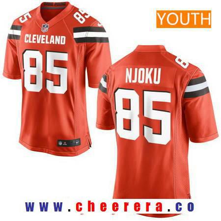 Youth 2017 NFL Draft Cleveland Browns #85 David Njoku Orange Alternate Stitched NFL Nike Game Jersey