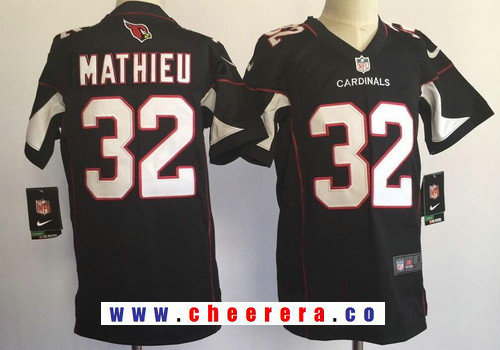 Youth Arizona Cardinals #32 Tyrann Mathieu Black Alternate Stitched NFL Nike Game Jersey