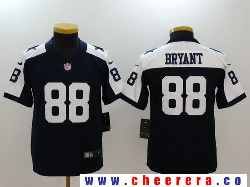 Youth Dallas Cowboys #88 Dez Bryant Blue Thanksgiving 2017 Vapor Untouchable Stitched NFL Nike Limited Jersey