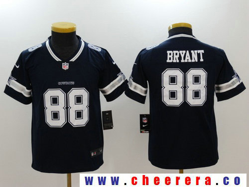 Youth Dallas Cowboys #88 Dez Bryant Navy Blue 2017 Vapor Untouchable Stitched NFL Nike Limited Jersey