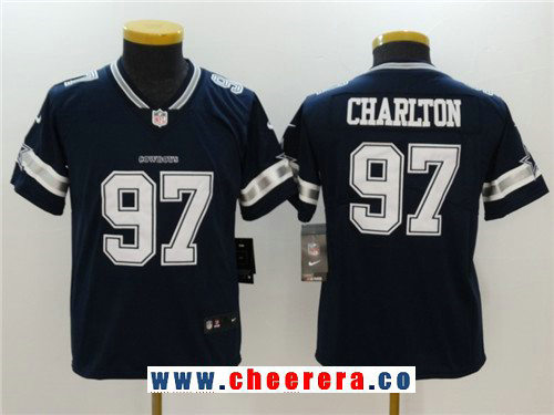Youth Dallas Cowboys #97 Taco Charlton Navy Blue 2017 Vapor Untouchable Stitched NFL Nike Limited Jersey