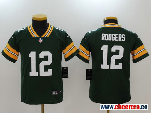 Youth Green Bay Packers #12 Aaron Rodgers Green 2017 Vapor Untouchable Stitched NFL Nike Limited Jersey