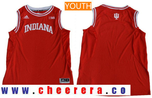 Youth Indiana Hoosiers Custom adidas College Basketball Jersey - Red