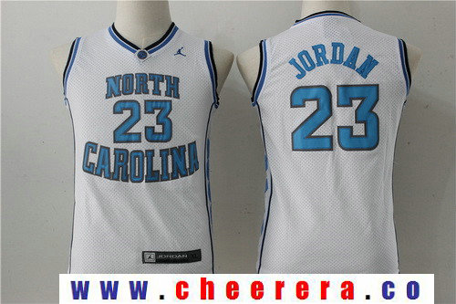 Youth North Carolina Tar Heels #23 Michael Jordan White College Basketball Brand Jordan Swingman Stitched NCAA Jersey