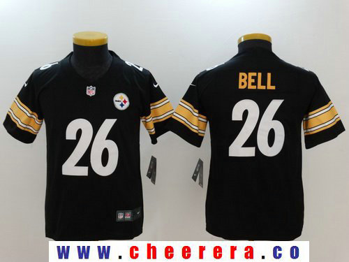 Youth Pittsburgh Steelers #26 Le'Veon Bell Black 2017 Vapor Untouchable Stitched NFL Nike Limited Jersey