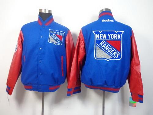 New York Rangers Blank Light Blue Jacket